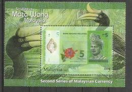 La Monnaie De Malaisie (Ringgit) Sur Bloc-feuillet Neuf ** - Monnaies