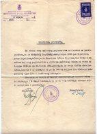 02.07.1941 WWII, NDH, BOROVO, YUGOSLAV REVENUE STAMP USED AS NDH - Kroatien