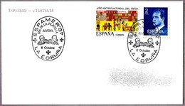 Matasellos ESPAMER'87 - DIA DE LA FILATELIA JUVENIL. La Coruña, Galicia, 1987 - 1931-Hoy: 2ª República - ... Juan Carlos I