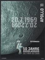Austria (2019) - Block -  /  Espace - Space - Moon - Apollo - Astronaut - UNUSUAL Touch - Spazio