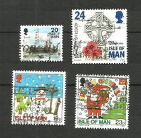 Ile De Man N°720, 723, 739, 740 Cote 4.15 Euros - Isle Of Man