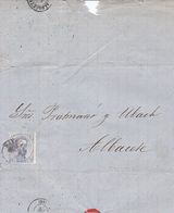 Año 1872 Edifil 121 10c Amadeo I Carta Matasellos Barcelona - 1872-73 Königreich: Amédée I.