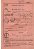 FRANCE-AVIS DE RECEPTION POUR LONDRES Avec N°103 En L'état -Peu Commun - Marcophilie (Lettres)