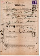 07.02.1949 YUGOSLAVIA, CROATIA, PULA, POST TRACKING DOCUMENT - 1945-1992 Repubblica Socialista Federale Di Jugoslavia