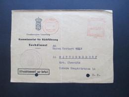 Luxemburg 1960 Vorderseite Des Komissariat Für Rückführung Suchdienst Freistempel Luxembourg - Luxemburg