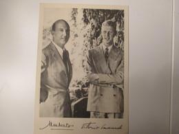 1958 SAVOIA  UMBERTO Vittorio Emanuele Da Giovane Firma Autografa Ministro Real Casa F.Lucifero - Royal Families