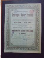 BELGIQUE - BRUXELLES 1897 - CIE DE TRAMWAYS A VAPEUR PIEMONTAIS - ACTION ORDINAIRE - Azioni & Titoli