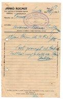 1923 YUGOSLAVIA, SLOVENIA, JANKO KOSMUT, INVOICE ON A FACTORY LETTERHEAD TO JENE SABO, SENTA - Invoices & Commercial Documents