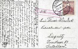 Censure Sur Carte Postal De Javornik Vers Allemagne 1938 - Covers & Documents