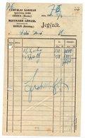 1923 YUGOSLAVIA, SERBIA JUDAICA, INVOICE ON LETTERHEAD, SAMUILO HOFMAN, SENTA, BACKA - Invoices & Commercial Documents