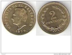 El Salvador 2 Centavos 1974 Km 147   Unc !!!!!!!! - El Salvador