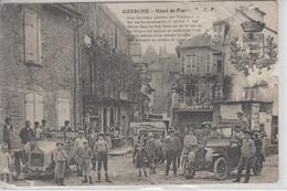 CPA Uzerche - Hôtel De France (très Belle Animation Avec 3 Automobiles) - Uzerche