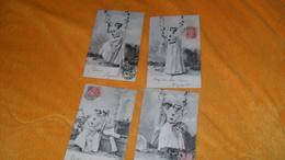 LOT DE 4 CARTES POSTALES ANCIENNES CIRCULEES DE 1903.../ FEMME BALANCOIRE HOMME..CACHET + TIMBRE - Donne