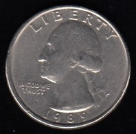 USA -  1989 Circulating 25¢ Coin - Federal Issues