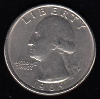 USA -  1989 Circulating 25¢ Coin - 1932-1998: Washington