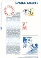 FRANCE - DOCUMENT OFFICIEL GASTON LAGAFFE FETE DU TIMBRE CAD PARIS DU 24/02/2001 - Documenten Van De Post