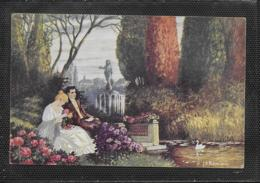 AK 0380  Römisch , J. K. - Im Park / Künstlerkarte Um 1917 - Malerei & Gemälde