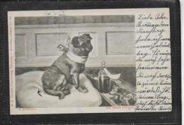 AK 0380  Sperlich , S. - Der Brave Patient / Künstlerkarte Um 1900 - Hunde