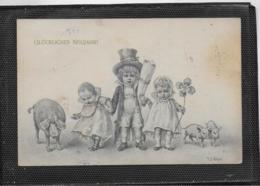 AK 0380  Glückliches Neujahr - R. R, Wichera Künstlerkarte Um 1920 - Neujahr