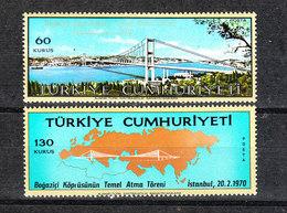 Turchia - 1970. Ponte Sul Bosforo. Bosphorus Bridge. Complete MNH Series - Ponti