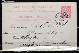 Postkaart Van Iseghem Naar Iseghem - Entiers Postaux