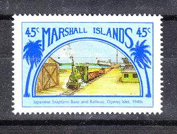 Marshall  - 1989.  Treno E Base Nabale. Train And Naval Base. MNH - Eisenbahnen