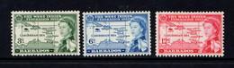 BARBADOS   1958    Inauguration  Of  British  Caribbean  Federation    Set  Of  3    MH - Barbados (...-1966)