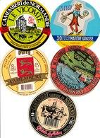 Étiquettes De Fromage (Lot De 5) : CAMEMBERT, Fourquemain, Calvados, Dandy, Valy, Vicomte - Formaggio