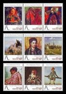 Moldova (Transnistria) 2019 No. 922/30 Russian Painting. Filipp Malyavin. Vasily Polenov. Ilya Repin MNH ** - Moldova