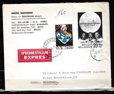Expres Brief Van Dentergem Naar Bissegem - Belgique