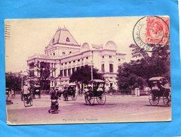 SINGAPOUR- Thepolice Court-rue Animée Les Pouce Pouce-a Voyagé En 1920-bel Affranchissement - Singapore