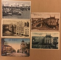 LOT DE 5 CPA BEOGRAD 1924-25-26-27 - 5 Cartes : 1 COLORISEE 4 NOIR BLANC - Serbie