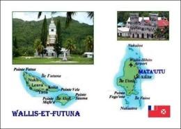 Wallis And Futuna Islands Map New Postcard Inseln Landkarte AK - Wallis En Futuna