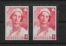 OBP416 In Paar, Postfris** , Met Puntje In De Hals - Variétés Et Curiosités