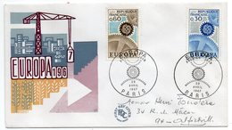 1967-- FDC   EUROPA   2 Valeurs  ---cachet  Paris -75 - FDC