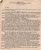 LETTRE ANONYME JOURNALISTE FRANCAIS AU DOCTEUR FRIEDRICH JOURNALISTE ALLEMAND RADIO PARIS COLLABORATION - 1939-45