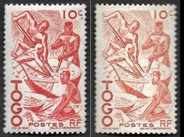 TOGO  - YT  236 -  2 Nuances  Un Exemplaire Très Pâle- Pilage Du Manioc  - NEUFS - Togo (1914-1960)