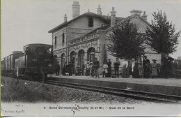 SAINT GERMAIN LES COUILLY  Quai De La Gare (locomotive-tender De Banlieue EST ) - Other Municipalities