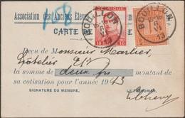 Belgique 1913 COB 108 Et 118 Sur Carte Reçu De Bouillon. Tarif Rare 11 Centimes - 1912 Pellens