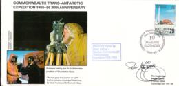 British Antarctic Territory FDC Sc 147 Signed Peter Jeffries Cachet Surveyor Taking Star Fix - Expéditions Antarctiques