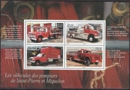 Saint-Pierre & Miquelon 2013 Yvert F1078 Neuf ** Cote (2015) 5.20 Euro Véhicules De Pompiers - Blokken & Velletjes