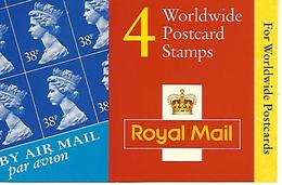 GREAT BRITAIN, WINDOW BOOKLET (RETAIL), 1999, GLA 1, 4x38p - Booklets