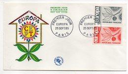 1965-- FDC   EUROPA --2 Valeurs --cachet  Paris -75 - FDC