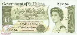 SAINT HELENA 1 POUND 1981 PICK 9a UNC - Isla Santa Helena