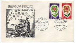 1964-- FDC   EUROPA --2 Valeurs --cachet  Paris -75 - FDC
