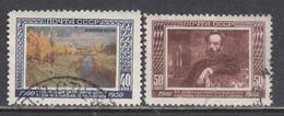 USSR 1950 - 50. Todestag Von Issak Lewitan, Mi-Nr. 1525/26, Used - 1923-1991 USSR