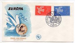 1961-- FDC   EUROPA --2 Valeurs --cachet  Paris -75 - FDC