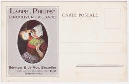 Lampe Philips,  Reclame Pub. Bruxelles.Eindhoven. - Personnages Célèbres