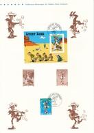 FRANCE - DOCUMENT OFFICIEL FETE DU TIMBRE 2003 CAD PARIS DU 15/03/2003 LUCKY LUKE - Documents De La Poste