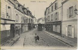 POISSY  Rue De Paris -( Locomotive Sans Foyer Système Lamm Du TMEP Ligne POISSY -St GERMAIN )         Petit Plan - Poissy